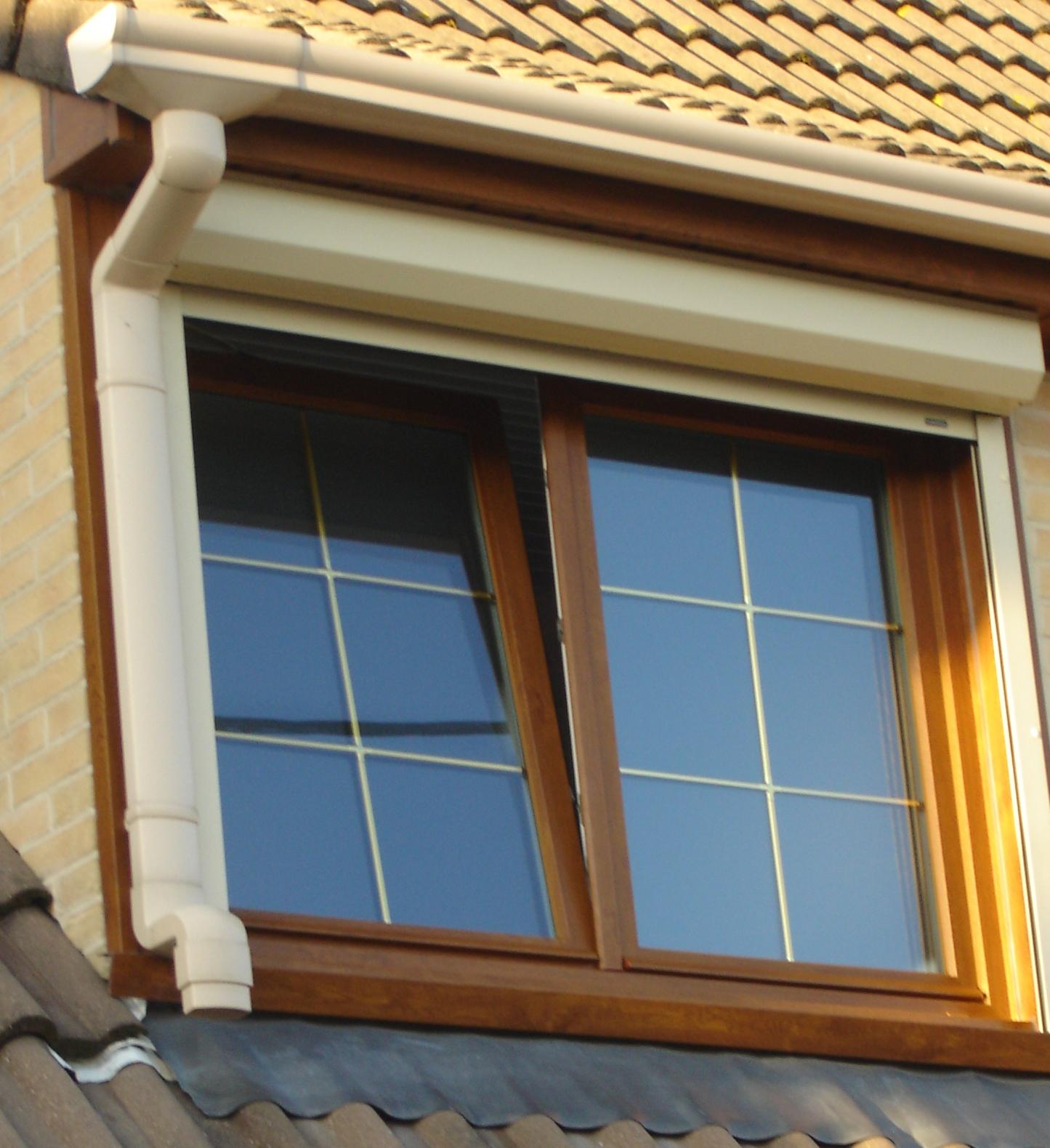 fenêtre PVC châne doré