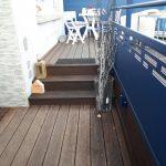 Garde-corps en aluminium et terrasse surélevée en bambou secteur Le Portel/Boulogne Sur Mer