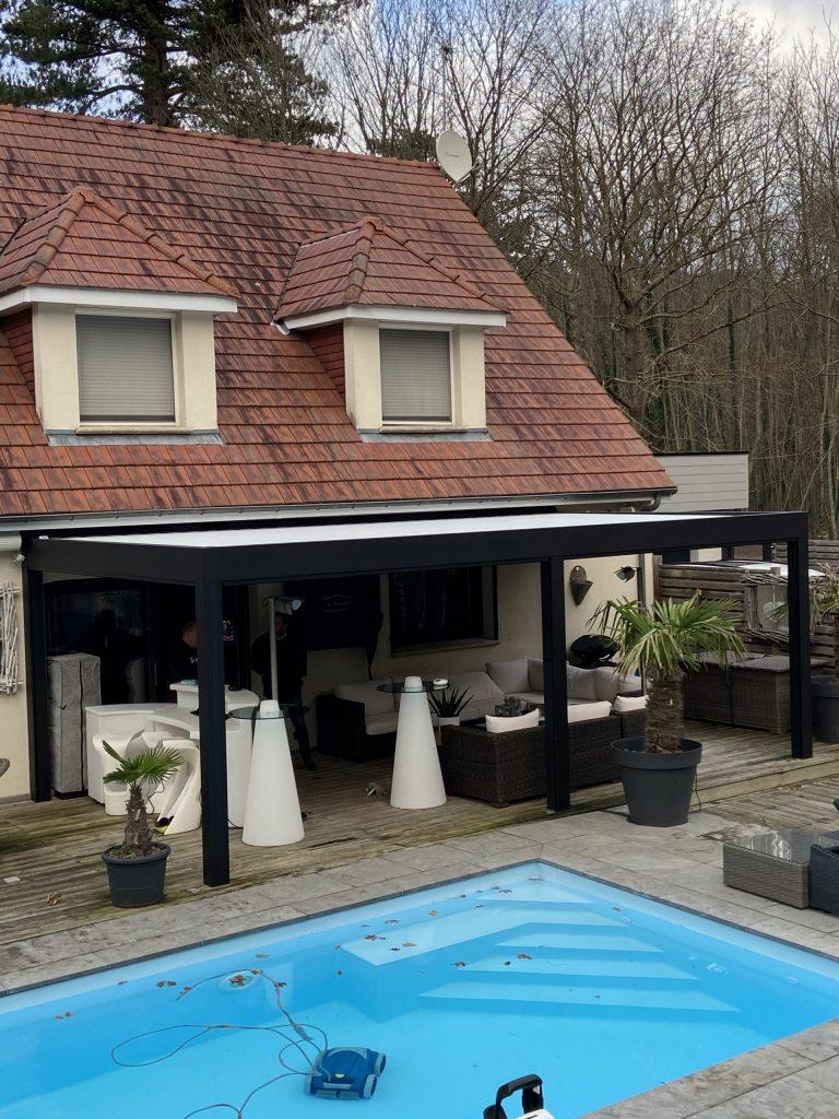 Pergola Bioclimatique Camargue de chez RENSON Boulogne sur mer Condette Hardelot Wimereux Le Touquet