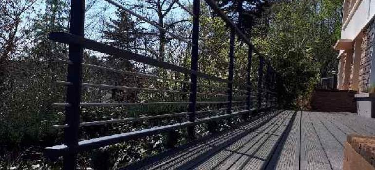 Garde-corps alu terrasse bambou Condette