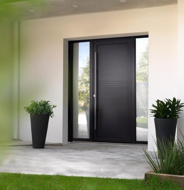 porte entrée bois aluminium 62200