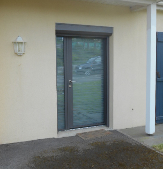 Porte d'entrée totalement vitrée - K-LINE