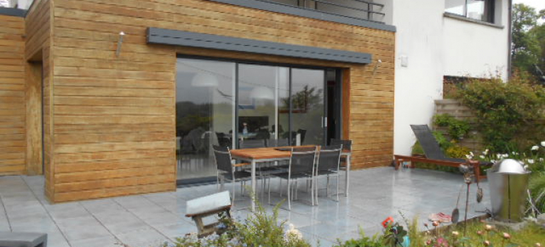 Baie vitr e 3 vantaux aluminium k line fermetures louasse - Baie vitree 3 vantaux ...