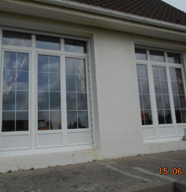menuiserie PVC blanc secteur Wimereux