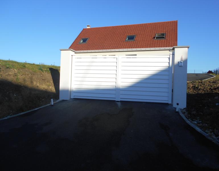 portail aluminium sans prise au vent - Boulogne sur Mer