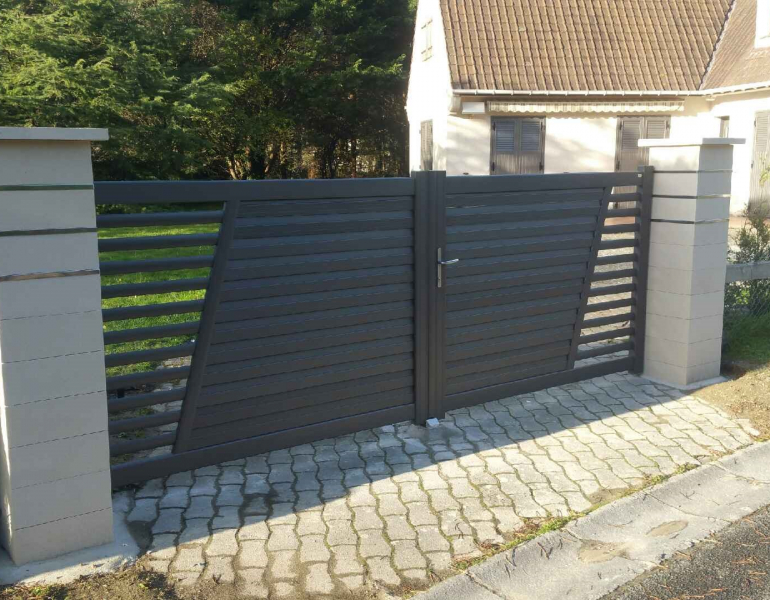 Portail aluminium SIB - Hardelot Plage