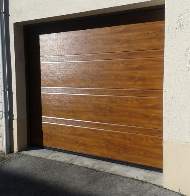 porte sectionnelle chêne
